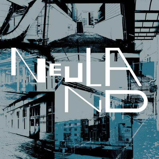 Das NEULAND-Logo auf blauem Hintergrund